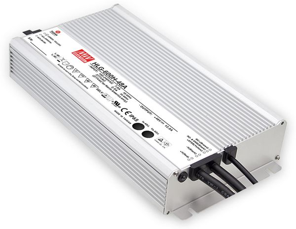 LED-Netzteil MEANWELL HLG-600H-12B, 12V-/40A