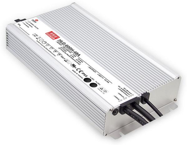 LED-Netzteil MEANWELL HLG-600H-54A, 56,7V-/11,2A