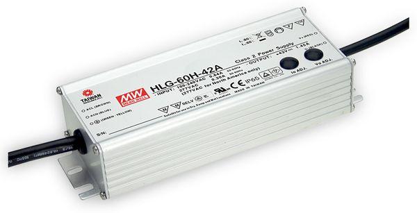 LED-Netzteil MEANWELL HLG-60H-24A, 24V-/2,5A