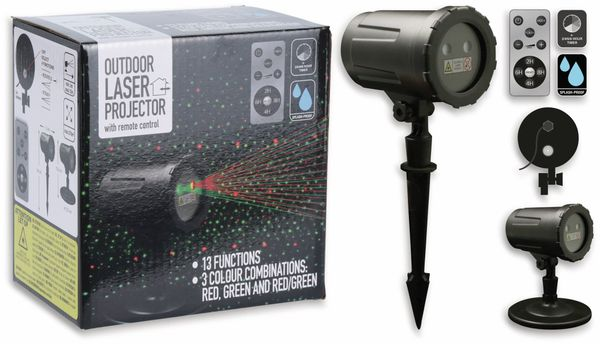 Laser-Projektor, Outdoor, 2-farbig