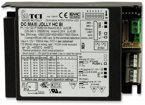 LED-Spannung/Stromversorung, TCI, DC MAXI JOLLY HC BI, 55W, 1050..2100mA