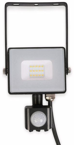 LED-Fluter mit Bewegungsmelder VT- 10-S-B, EEK: A+, 10 W, 800lm, 3000K, schwarz