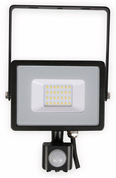 LED-Fluter mit Bewegungsmelder VT-20-S-B, EEK: A++, 20 W, 1600lm, 3000 K, schwarz
