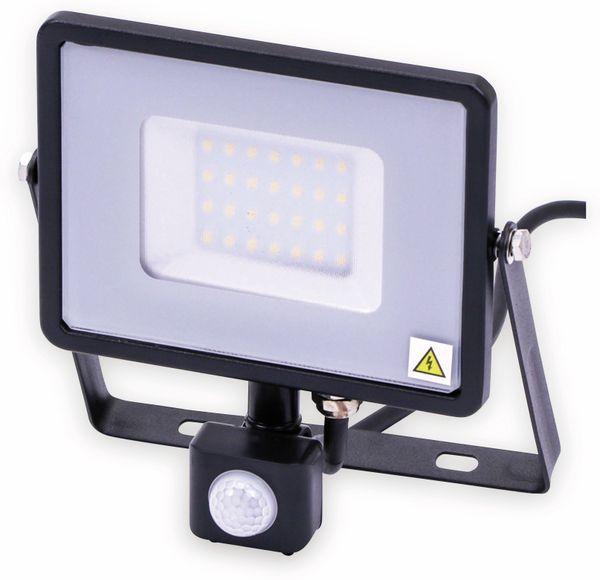 LED-Fluter mit Bewegungsmelder VT-30-S-B, EEK: A++, 30 W, 2400lm, 3000 K, schwarz