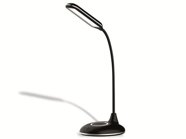 LED-Schreibtischleuchte VT-7705 4W, Wireless Lader,2700K-6500K, schwarz, 5V-