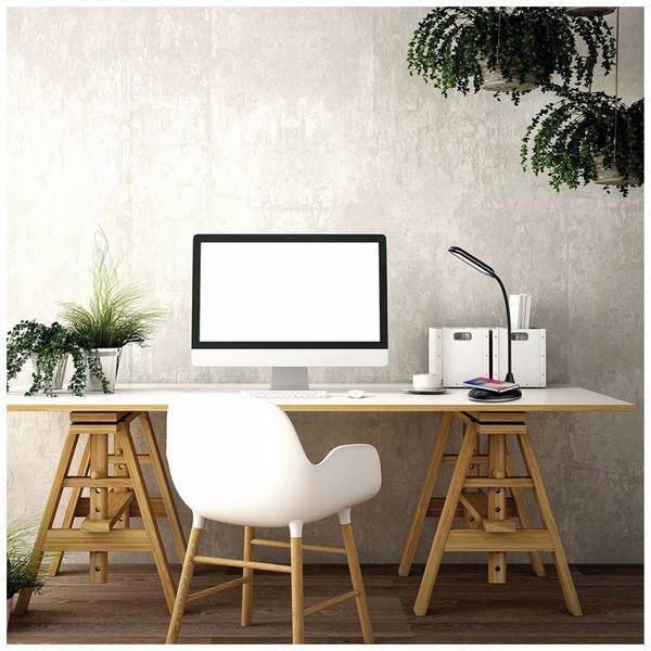 LED-Schreibtischleuchte VT-7705 5W, Wireless Lader,2700K-6500K, schwarz, 5V- - Produktbild 2