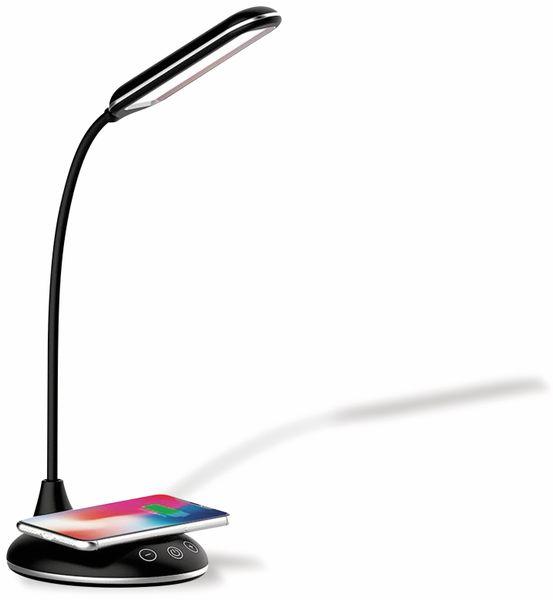 LED-Schreibtischleuchte VT-7705 5W, Wireless Lader,2700K-6500K, schwarz, 5V- - Produktbild 4