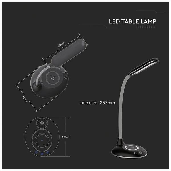 LED-Schreibtischleuchte VT-7705 5W, Wireless Lader,2700K-6500K, schwarz, 5V- - Produktbild 11