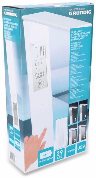 LED-Schreibtischleuchte GRUNDIG 29LEDs, Akku, Kalender, dimmbar - Produktbild 2