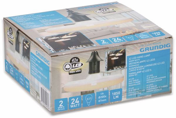 LED-Lampe GRUNDIG, E27, EEK: A, 24 W, 1850 lm, 3000 K - Produktbild 2