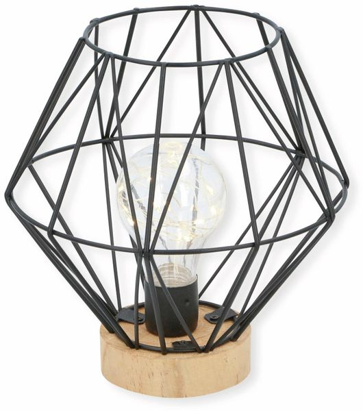 LED-Dekoleuchte GRUNDIG Gitter, schwarz, batteriebetrieb