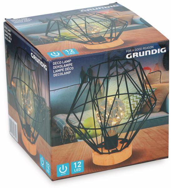 LED-Dekoleuchte GRUNDIG Gitter, schwarz, batteriebetrieb - Produktbild 2