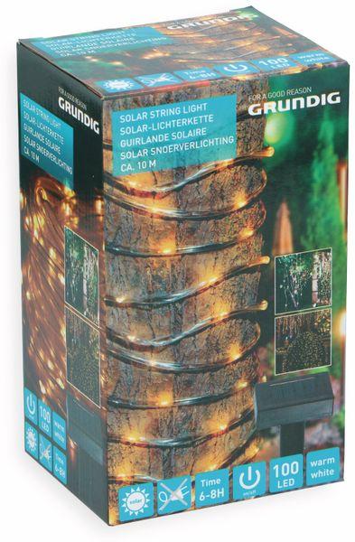 Solar-Lichterkette GRUNDIG, 100 LEDs, warmweiß, 10m - Produktbild 2