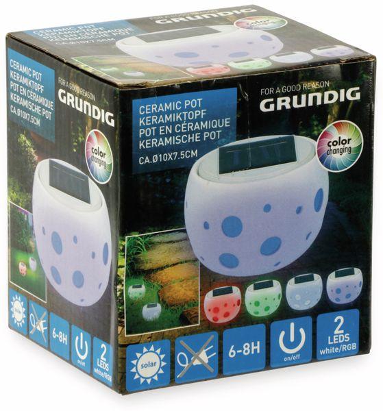 Solar-Keramiktopf GRUNDIG, Farbwechsel, 2 LED - Produktbild 6