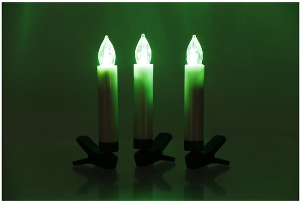 LED-Baumkerzen, WW/KW/RGB, 15 Stück, B-Ware - Produktbild 11