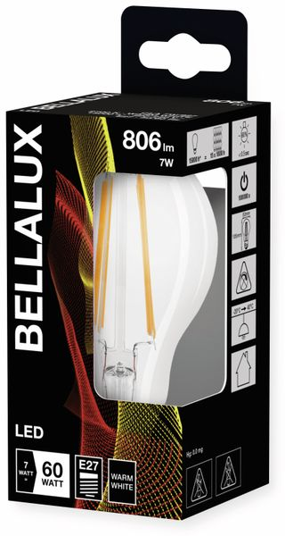 LED-Lampe BELLALUX CLASSIC, E27, EEK: A++, 7 W, 806 lm, 2700 K, 10 Stück - Produktbild 3