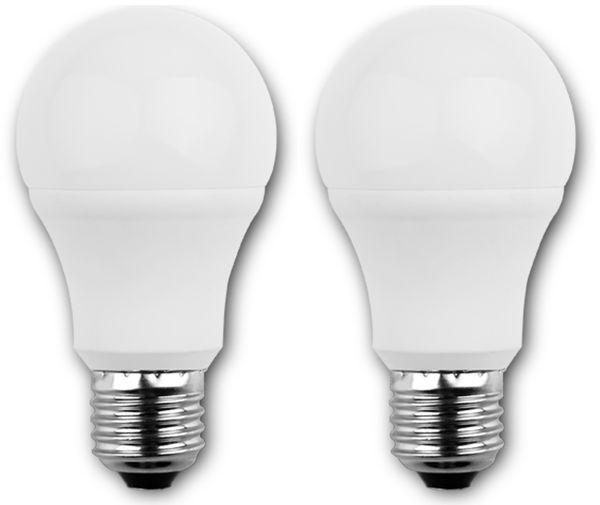 LED-Lampe BLULAXA A60, E27, 8 W, 810 lm, 2700 K, 2 Stück
