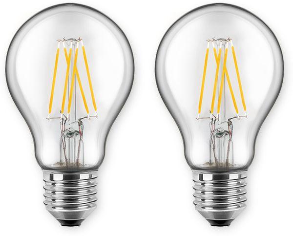 LED-Lampe BLULAXA A60 Filament, E27, EEK:A++, 7 W, 810 lm, 2700 K, 2 Stück