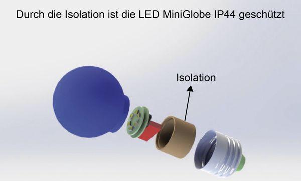 LED-Lampe BLULAXA, E27, 1 W, IP44, blau - Produktbild 2