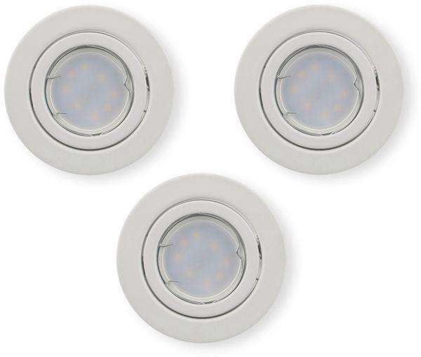 LED-Einbauleuchten Set VT 3333 (8883), GU10, EEK: A+, 5W, 400lm, 6400K, weiß, 3 Stück