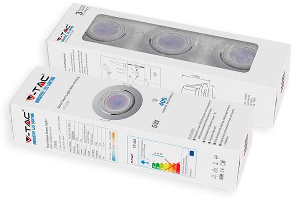 LED-Einbauleuchten Set VT 3333 (8883), GU10, EEK: A+, 5W, 400lm, 6400K, weiß, 3 Stück - Produktbild 2