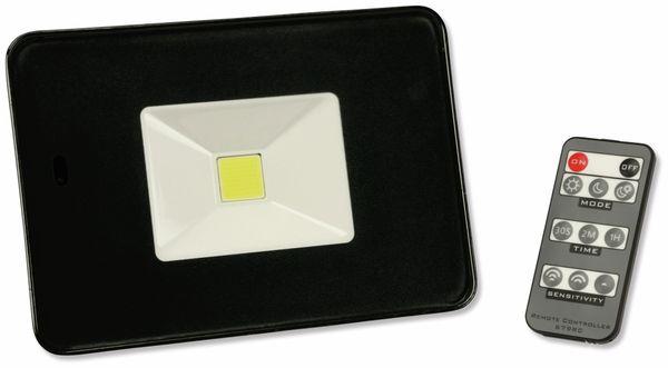 LED-Fluter, Bewegungsmelder, EEK: A, 20W, 1700lm, Fernbedienung, 6500K, schwarz