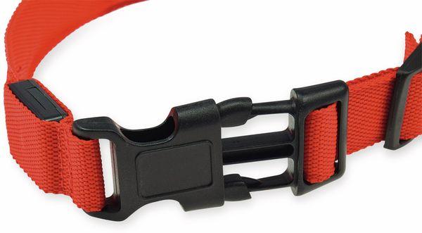 Hunde-Halsband CHILITEC, Größe M, rot, mit LED-Licht - Produktbild 3