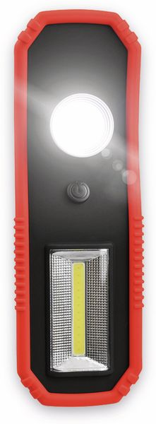 LED-Arbeitsleuchte EUFAB 13450 batteriebetrieben rot/schwarz - Produktbild 2