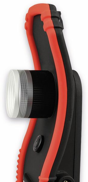 LED-Arbeitsleuchte EUFAB 13450 batteriebetrieben rot/schwarz - Produktbild 4