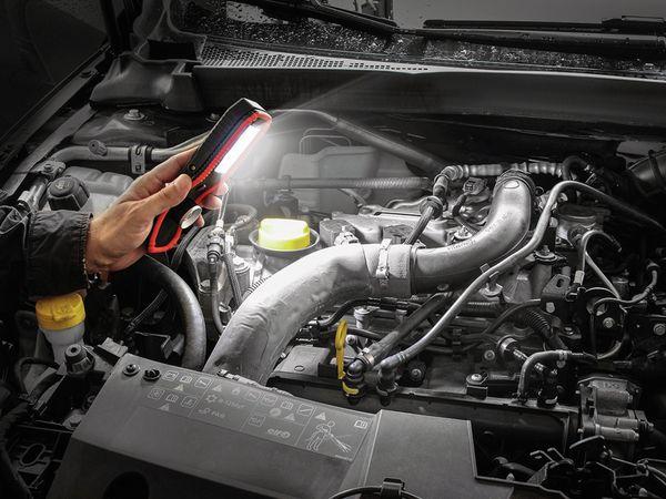 LED-Arbeitsleuchte EUFAB 13450 batteriebetrieben rot/schwarz - Produktbild 8