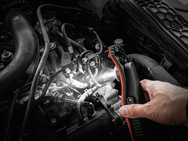 LED-Arbeitsleuchte EUFAB 13450 batteriebetrieben rot/schwarz - Produktbild 9