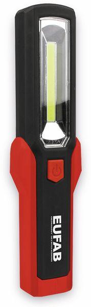 LED-Arbeitsleuchte EUFAB 13490 3,7V, 1800 mA, Tischladestation, rot/schwarz
