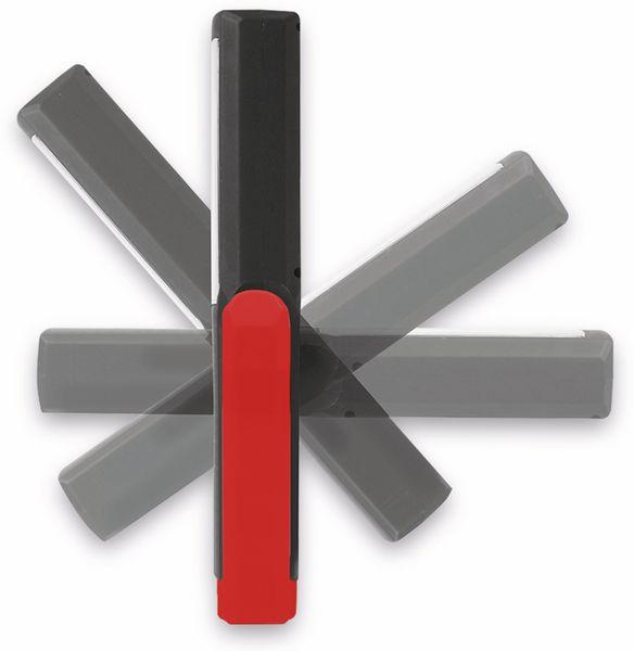 LED-Arbeitsleuchte EUFAB 13490 3,7V, 1800 mA, Tischladestation, rot/schwarz - Produktbild 2
