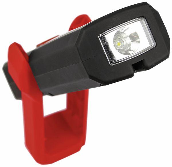 LED-Arbeitsleuchte EUFAB 13490 3,7V, 1800 mA, Tischladestation, rot/schwarz - Produktbild 3
