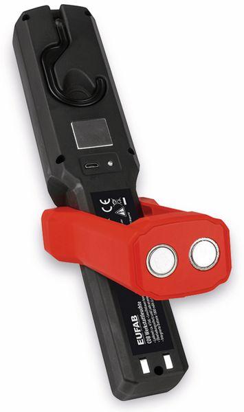 LED-Arbeitsleuchte EUFAB 13490 3,7V, 1800 mA, Tischladestation, rot/schwarz - Produktbild 4