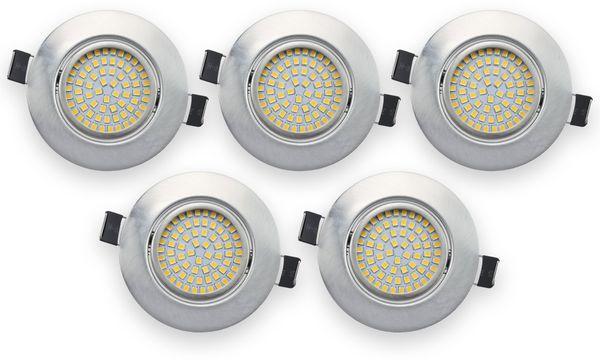 5er Set LED-Einbauleuchte DAYLITE EBL-WW, EEK: A+, 4 W, 400 lm, 3000 K, Nickel satiniert