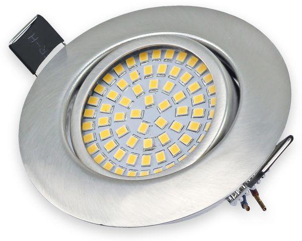 5er Set LED-Einbauleuchte DAYLITE EBL-WW, EEK: A+, 4 W, 400 lm, 3000 K, Nickel satiniert - Produktbild 2