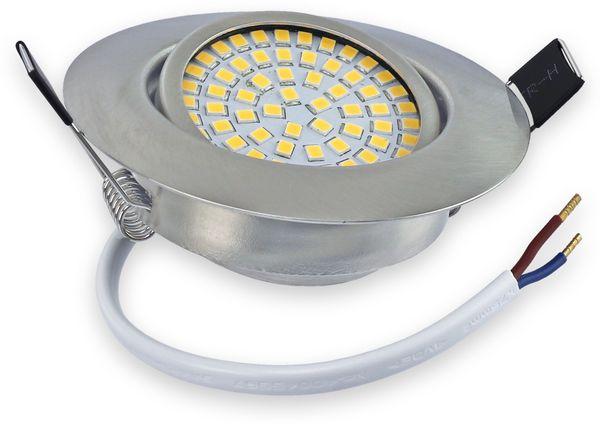 10er Set LED-Einbauleuchte DAYLITE EBL-WW, EEK: A+, 4 W, 400 lm, 3000 K, Nickel satiniert - Produktbild 3