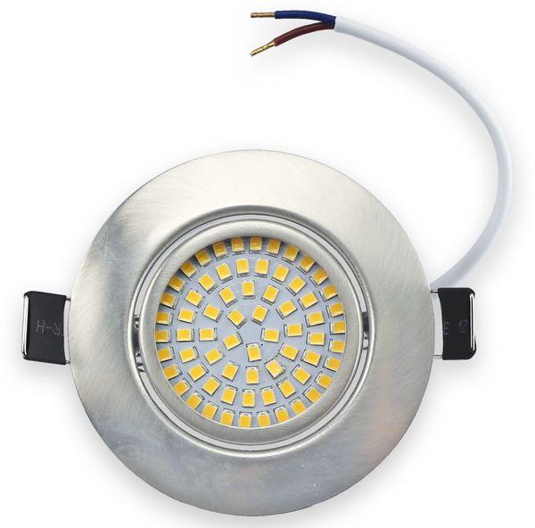 10er Set LED-Einbauleuchte DAYLITE EBL-WW, EEK: A+, 4 W, 400 lm, 3000 K, Nickel satiniert - Produktbild 4