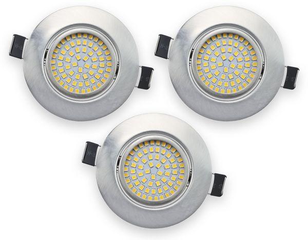 3er Set LED-Einbauleuchte DAYLITE EBL-NW, EEK: A+, 4 W, 400 lm, 4000 K, Nickel satiniert