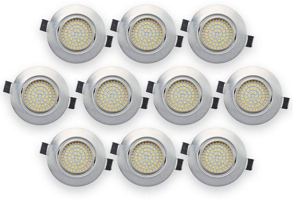 10er Set LED-Einbauleuchte DAYLITE EBL-NW, EEK: A+, 4 W, 400 lm, 4000 K, Nickel satiniert