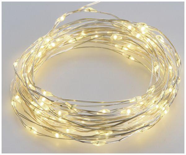 Solar-Lichterkette, 200 LEDs, warmweiß, 12 m - Produktbild 3