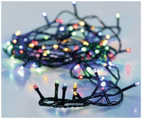 Solar-Lichterkette, 100 LEDs, bunt, 12 m