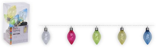 "LED-Party-Lichterkette 10 ""Oval Birnen bunt"", batteriebetrieben"