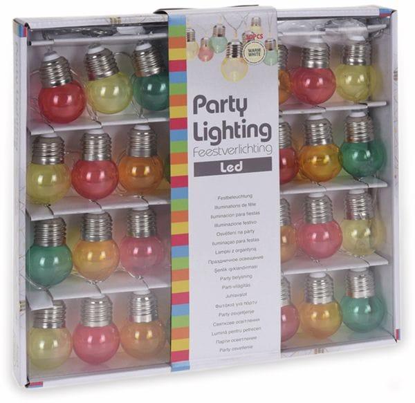 LED-Lichterkette, 30 Lampen, bunt, Batteriebetrieben - Produktbild 2