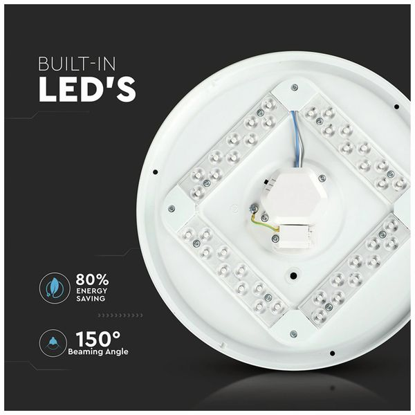 LED-Deckenleuchte VT-8424(7607), EEK: A, 24 W, 1440 lm, 3000…6400 K, weiß - Produktbild 2