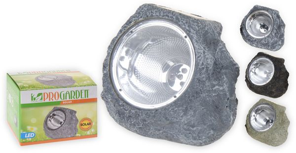 Solar-LED Steinleuchte 4 LED, verschiedene Farben