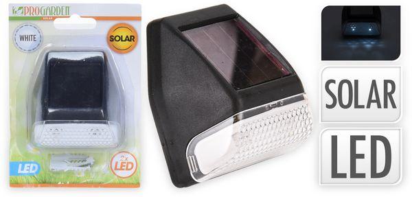 Solar-LED Hausnummernleuchte 2 LED, schwarz