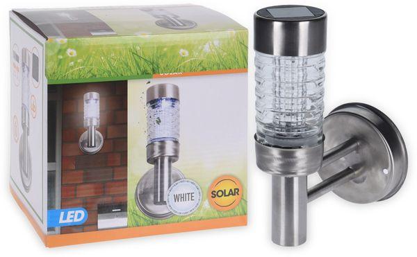 Solar-LED Wandleuchte Edelstahl/Glas