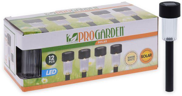 Solar-Gartenleuchten, 310 mm, 12 Stück